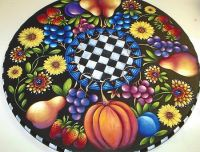 FLOWERS & FRUIT LAZY SUSAN  E-PACKET