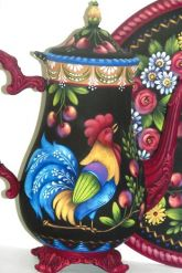 ROOSTER & CHERRIES COFFEE POT  E-PACKET