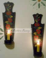 FILLEY RED CANDLE SCONCES  E-PACKET