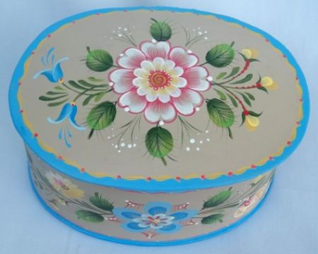 WEST COAST ROSEMALING TRINKET BOX   PATTERN PACKET