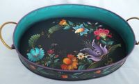 KIEV OVAL TRAY w/HANDLES  PATTERN PACKET