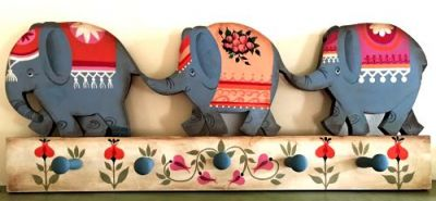 ELEPHANT COAT RACK  WOOD
