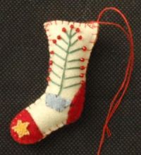 STOCKING W/TREE ORNAMENT