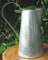 ALE PITCHER  FOLK ART TIN