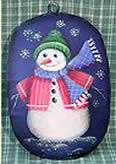 SWEET NOTHINGS PATTERN PACKET  SNOWMAN ON OVAL ORNAMENT