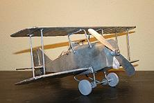 FOLK ART TIN LIZZIE'S - VINTAGE PLANE  FOLK ART TIN