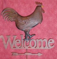 FOLK ART ROOSTER WEATHERVANE   MISCELLANOUS SURFACES