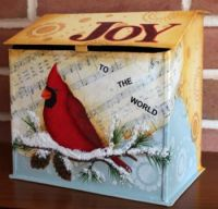 JANE ALLEN   JOY TO THE WORLD BOX AND FRAME   PATTERN PACKET