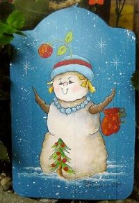 PAT SAUNDERS, CDA  CHEERFUL SNOWLADY!  PATTERN PACK