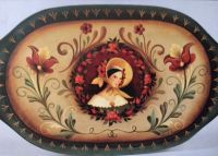 ROSEMALING-WOMAN IN BONNET  PATTERN PACKET