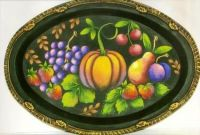 FOLK ART FRUIT TRAY  ROSEMARY WEST, CDA  PATTERN PACKET