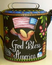 GOD BLESS AMERICA KETTLE  ROSEMARY WEST, CDA  PATTERN PACKET