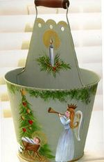 CHRISTMAS BUCKET  ROSEMARY WEST, CDA  PATTERN PACKET