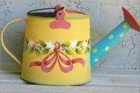 YELLOW WATERING CAN  PATTERN PACKET SHARA REINER, CDA