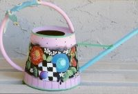 PINK WATERING CAN  PATTERN PACKET SHARA REINER, CDA
