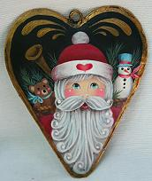 WILLIAMSBURG COLLECTION I  COUNTRY HEART WITH SANTA AND TOYS  PATTERN PACKET