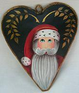 WILLIAMSBURG COLLECTION I  COUNTRY HEART WITH SANTA AND GOLD LEAVES  PATTERN PACKET