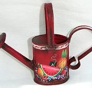 WILLIAMSBURG COLLECTION I  MINI RED OVAL WATERING CAN  PATTERN PACKET