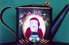WILLIAMSBURG COLLECTION II  SANTA ON PEPPERMINT TEAPOT  PATTERN PACKET