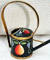 WILLIAMSBURG COLLECTION I  PEAR ON BLACK WATERING CAN  PATTERN PACKET