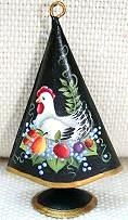 WILLIAMSBURG COLLECTION I  FRENCH HEN ON BLACK MEDIUM TREE  PATTERN PACKET