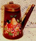 WILLIAMSBURG COLLECTION II  FRUIT ON ANTIQUE DUTCH COFFEE POT  PATTERN PACKET