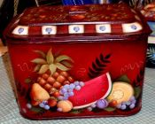 WILLIAMSBURG COLLECTION II  ANTIQUE LUNCH PAIL W/FRUIT  PATTERN PACKET
