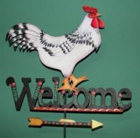 FOLK ART ROOSTER WEATHERVANE   DELLA WETTERMAN  PATTERN PACKET