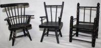 SET OF VINTAGE WOOD CHAIRS  MISCELLANEOUS SURFACES